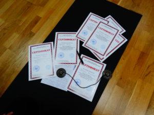 сертификат по детской йоге